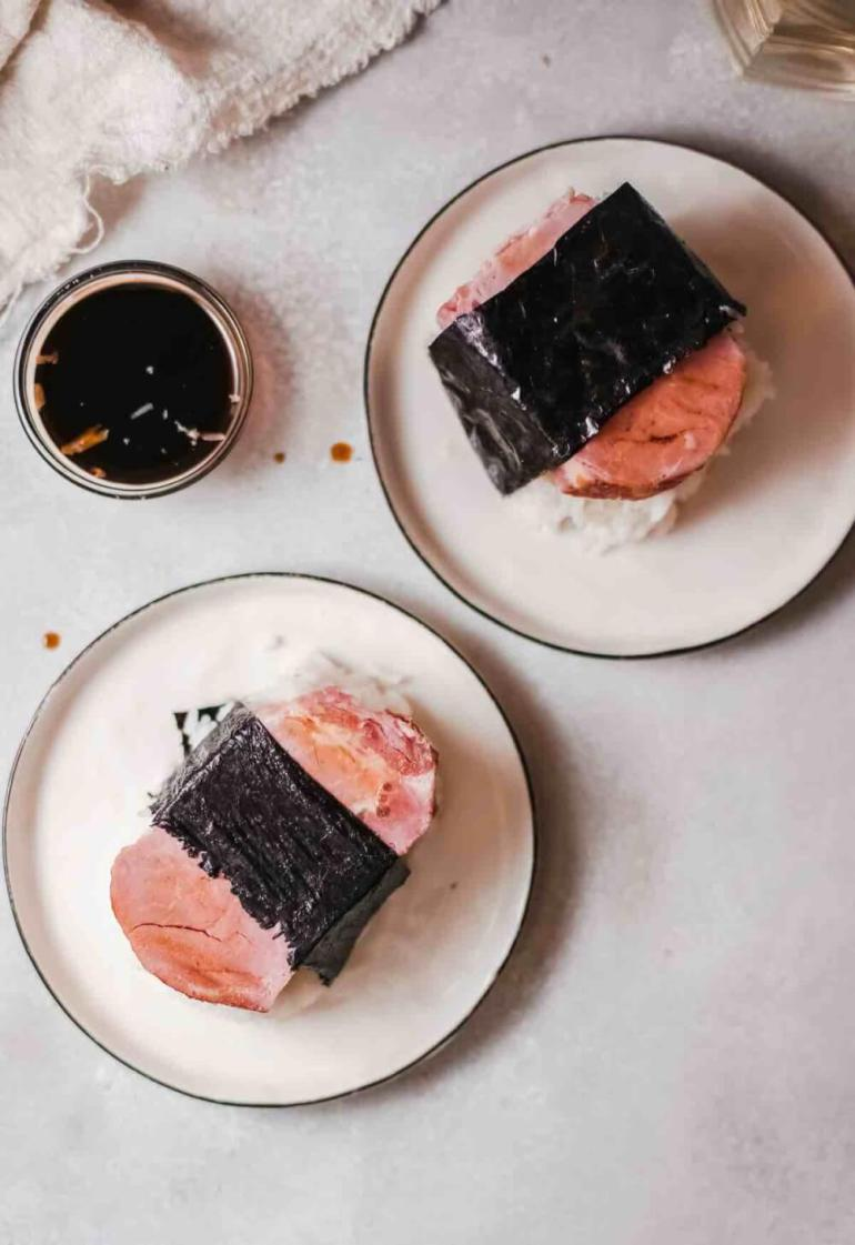 spam musubi recipe without mold recipe featured by top Hawaii blog, Hawaii Travel with Kids   spam musubi recipes