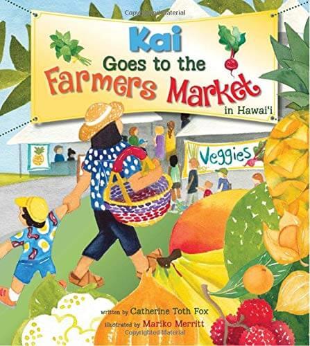 Hawaiian toys and Hawaiian gifts for kids by top Hawaii blogger Hawaii Travel with Kids: Kai goes to the farmers market