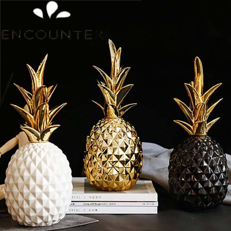 Cute Pineapple Gifts from Etsy featured by top Hawaii blog, Hawaii Travel with Kids: Nordic Creative Ceramic Pineapple Fruit CraftsPineapple image 0
