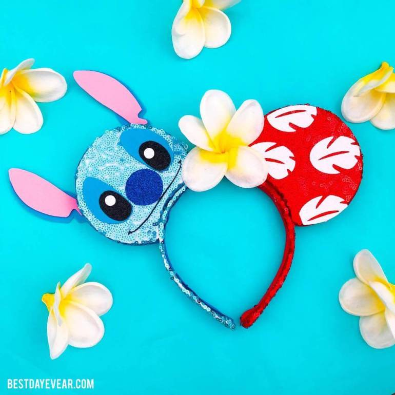Find out the cutest Disney Aulani t-shirts to buy before your trip to Disney's Aulani Resort in Hawaii by top Hawaii blog Hawaii Travel with Kids. You'll want to pack this pair of Lilo & Stitch ears to your Aulani suitcase!