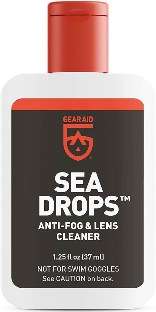 If you're snorkeling in Maui, you'll want to add some mask defogger to your packing list for Hawaii. Image of Gear Aid Sea Drops.
