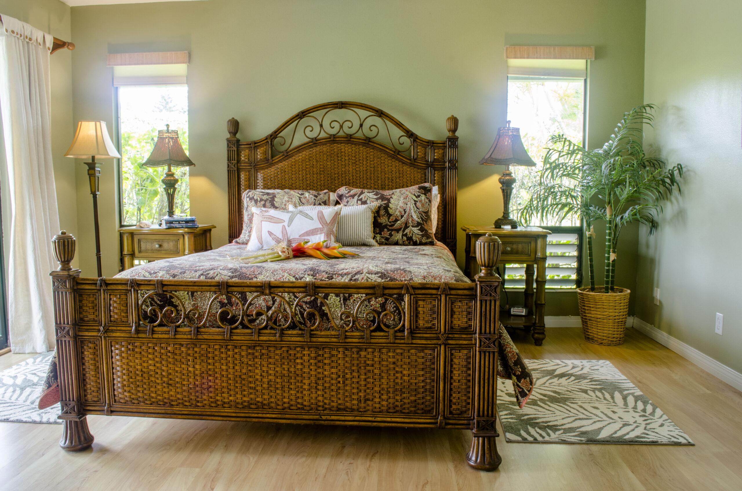 Master bedroom in Kauai vacation rental