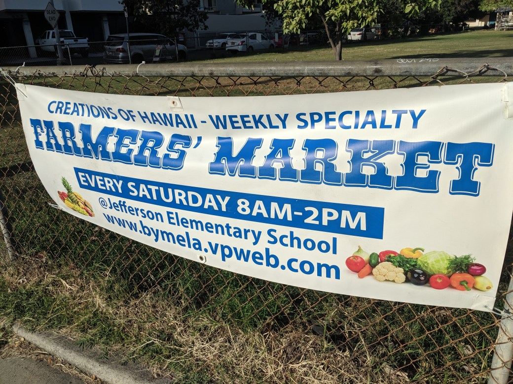 Specialty Farmers Market Sign