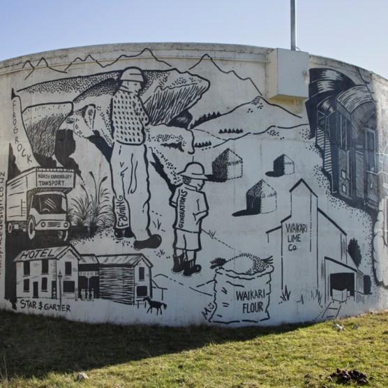 Waikari Water Tank Mural