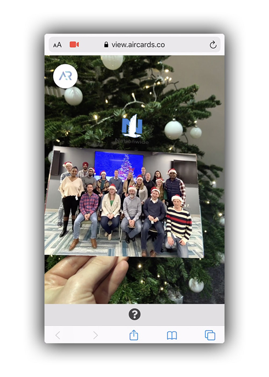 Nationwide Christmas card viewable in Web-based Augmented Reality