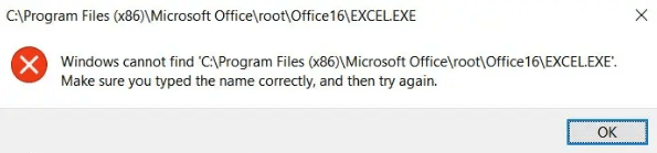 the same error message