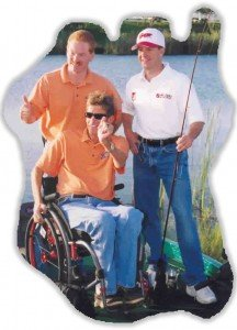 NASCAR's Jeff Burton slowing down long enough to fish with a friend