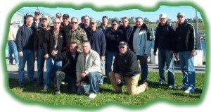 Larger Florida bass fishing group