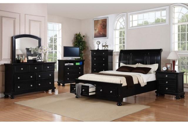 Bedroom furniture sets queen black | Hawk Haven