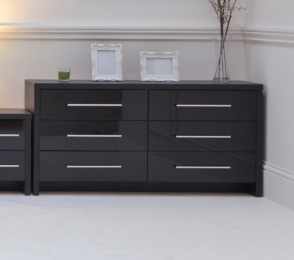 black gloss mirrored bedroom furniture hawk haven