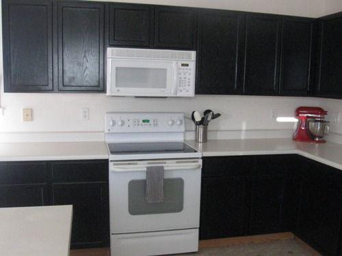 Black Kitchen Cabinets And White Appliances Hawk Haven