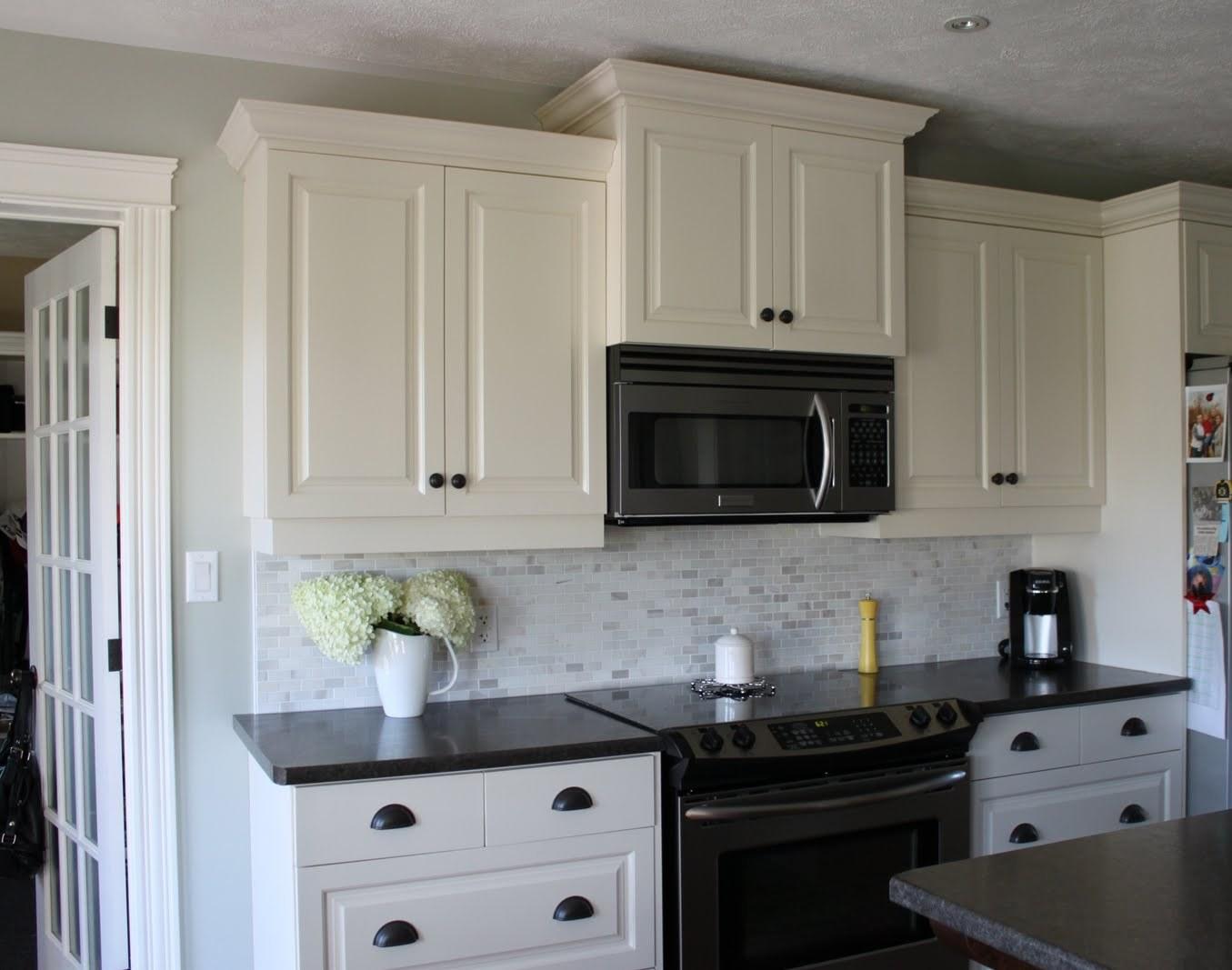Kitchen Backsplash Ideas For Dark Cabinets And White Countertops Novocom Top