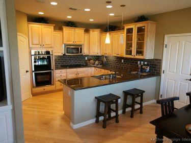 Light Maple Cabinets With Dark Wood Flooring Popular Flooring