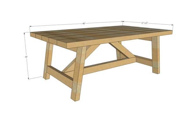 wood table designs plans | hawk haven