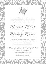 Wedding Logo Invitation - Background, logo, fonts, colors, and wording are all customizable!
