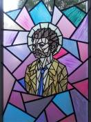 #132 - IMAGE: Create a stained glass window depicting a character or characters from a CW TV show.