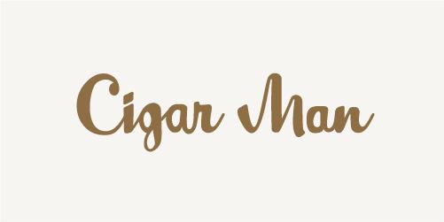 Cigar Man Logo - Refreshed
