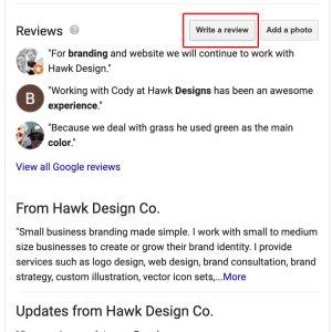 Write review box