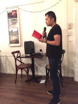 Author Dean Blake reading from the wildly evocative Surface children.