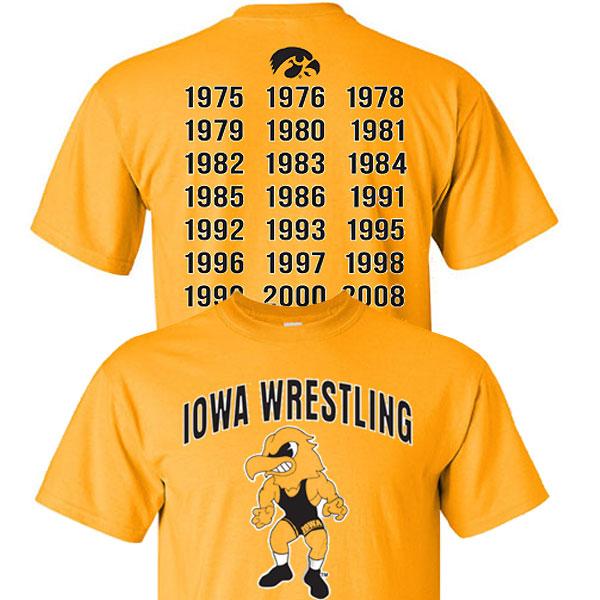 Iowa Hawkeyes Wrestling Champ Tee