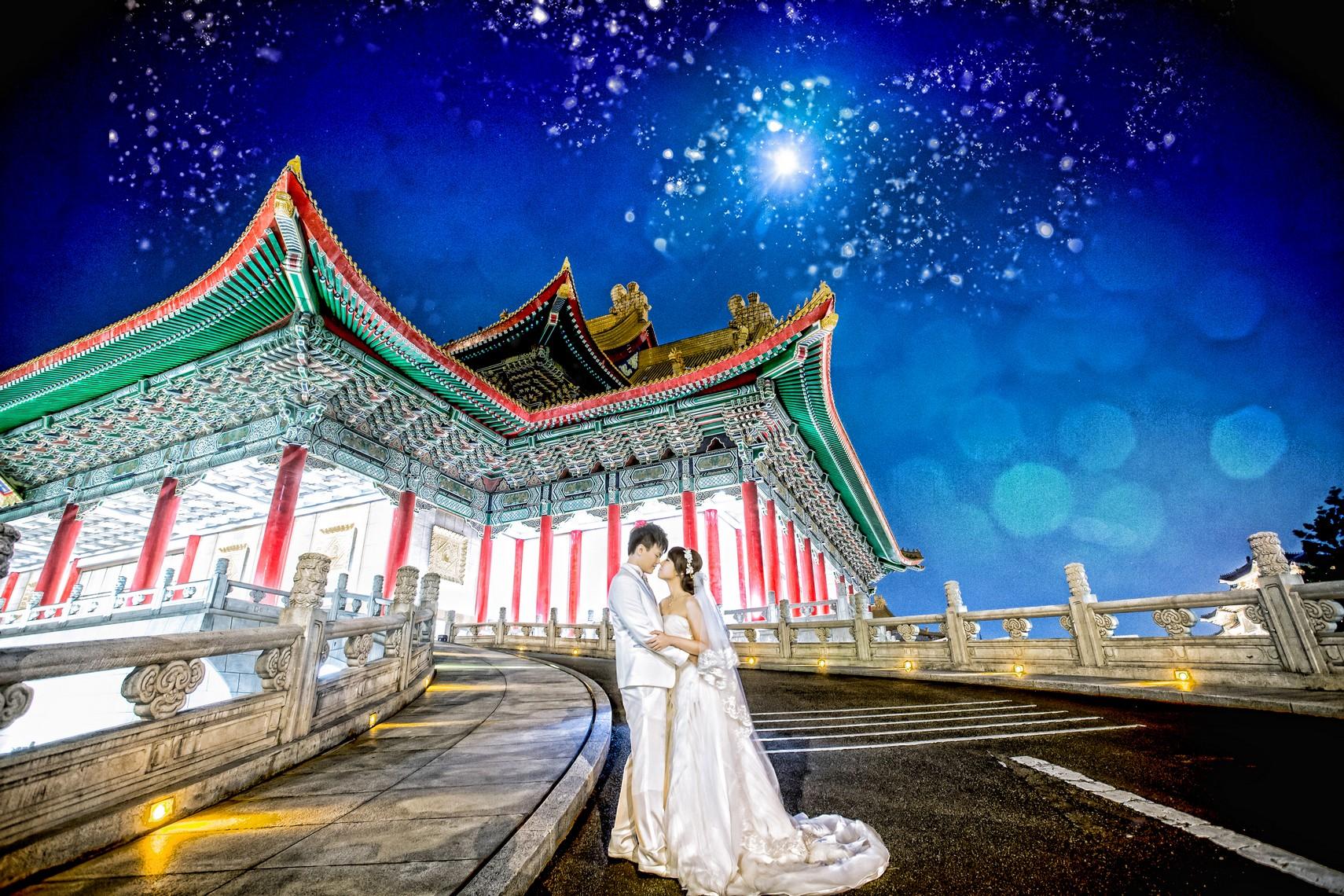 夜景婚紗照-台北婚攝Hawk