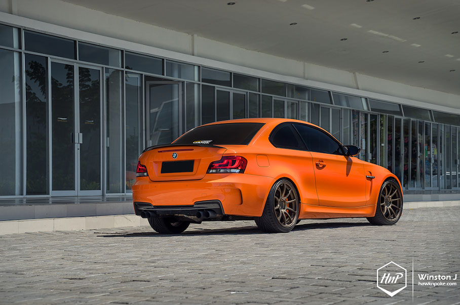 Sporty Orange Bmw 135i On Rays