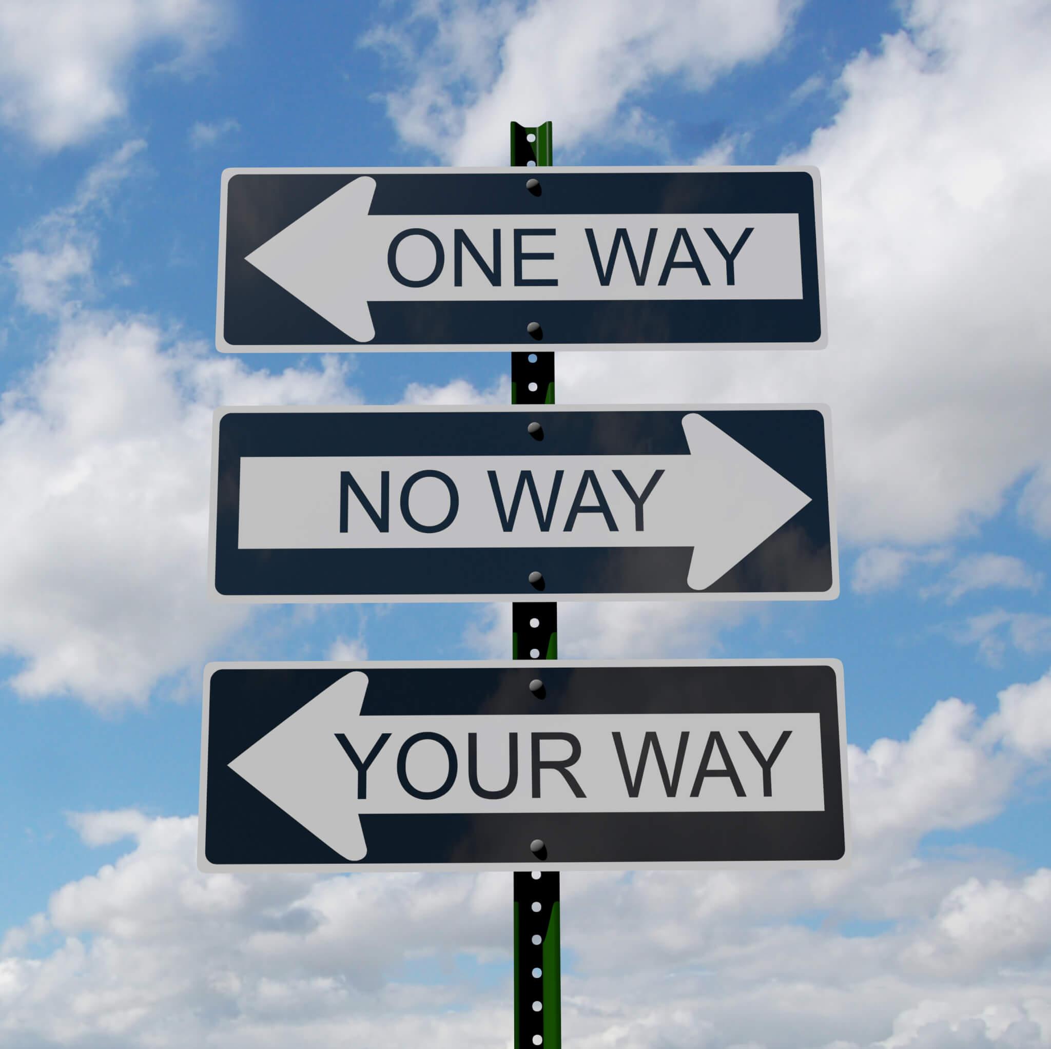 One way no way