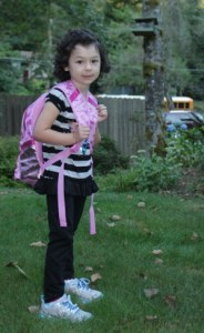 Allie ready for school