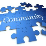 image of puzzle with the word community inside it