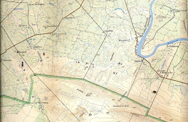 Map 2. Klipfontein, Potberg.
