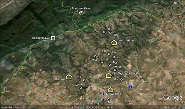 Fig. 150 Map Tradouw South