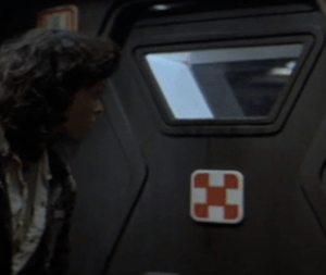 One of the many doors in Alien that have the Purina Alien Chow symbol on it
