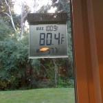Our Outdoor Thermometer Showing a Max temp of 100.9