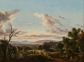 Abigail Tyler Oakes (1823-1898), View of the Hudson River, 1854. Oil on canvas, 17 ¾ x 24 inches. Signed and dated, lower center. Collection of Hawthorne Fine Art.