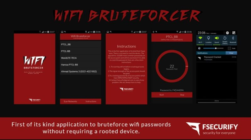 WiFi Bruteforcer – Android App to crack WiFi Passwords