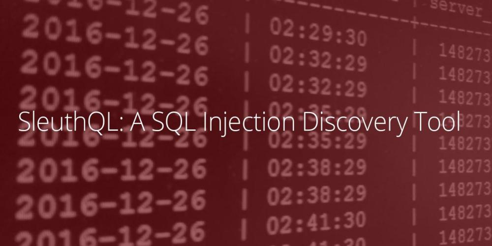 SleuthQL - SQL Injection Discovery Tool
