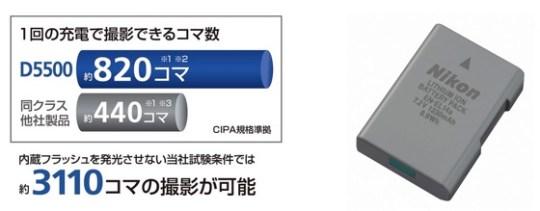 D5500 battery