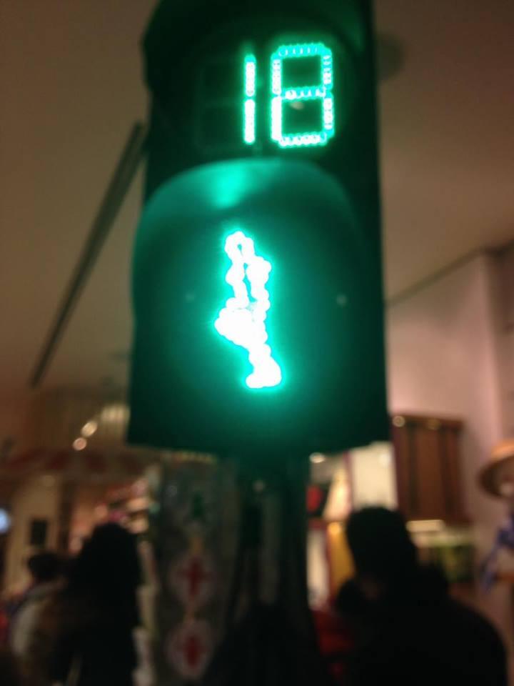 Ampelman shopta temsili trafik ışıkları