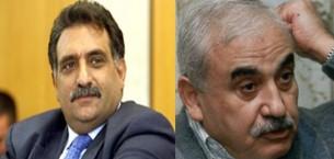 Los cristianos árabes y educado: George Habash (a la derecha) Oazmi Bsarh