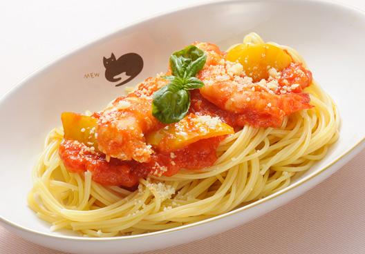 色鮮やかなパスタ_料理写真