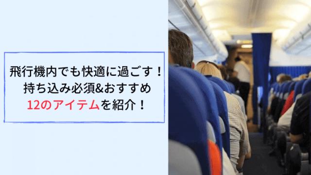 飛行機内でも快適に過ごす! 持ち込み必須&おすすめ 12のアイテムを紹介!