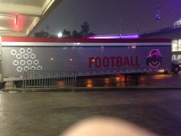 Just pulled into the SuperDome, 1 week before the Sugar Bowl, and there's the Ohio State football trailer.
