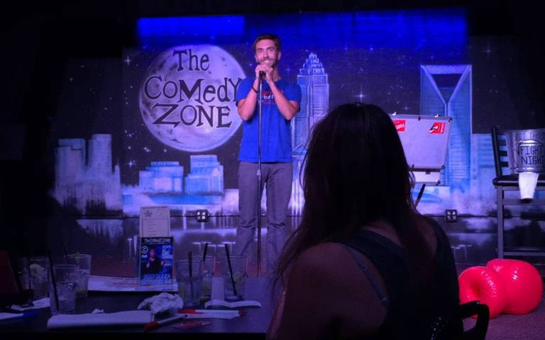 Hayden performing at the Comedy Zone in Charlotte, NC