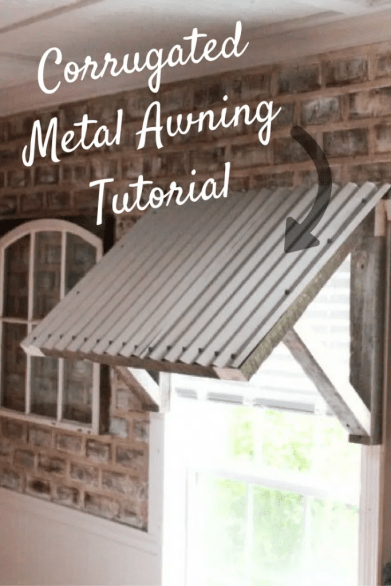 Corrugated Metal Awning Diy Two Paws Farmhouse