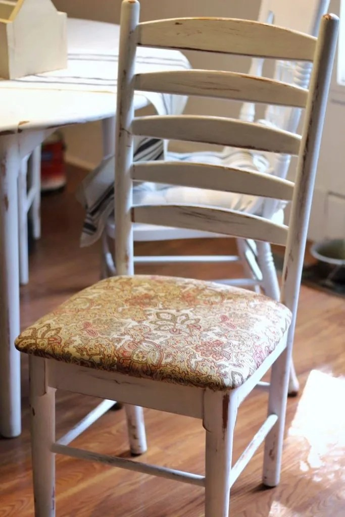 How To Reupholster Dining Chairs In Minutes Two Paws Farmhouse - Reupholster chairs