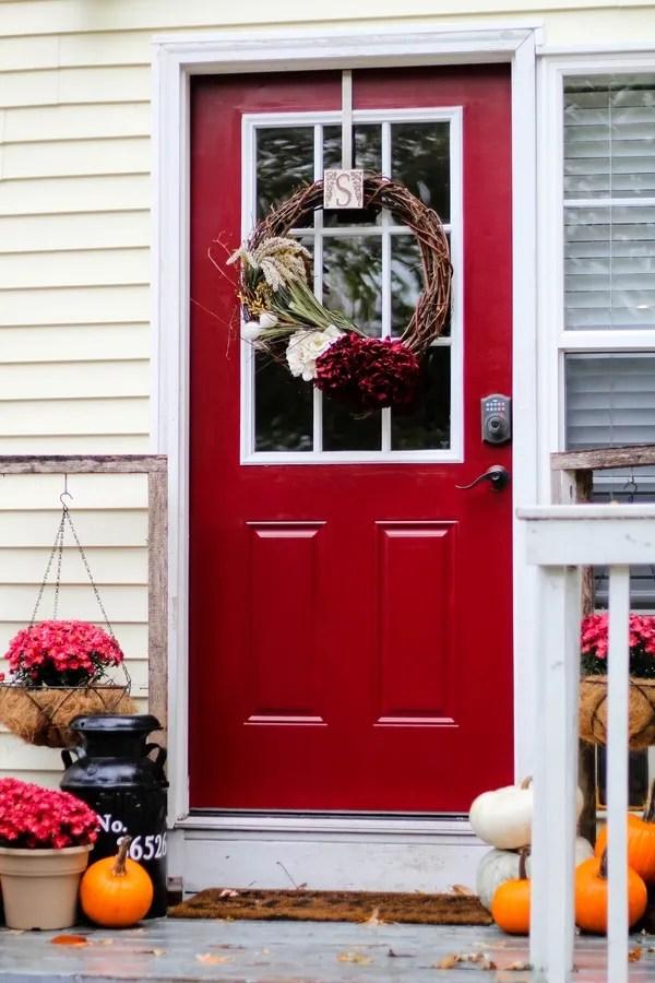 Front Door Makeover Using Modern Master's Front Door Paint