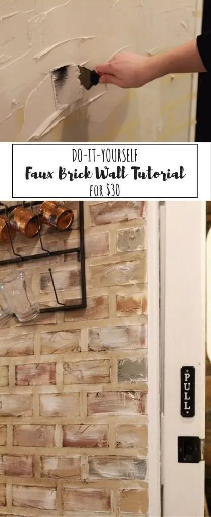 Faux Brick: Step-By-Step Tutorial