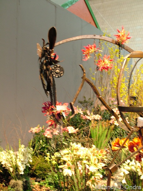 Horse sculpture at Philly Flower Show