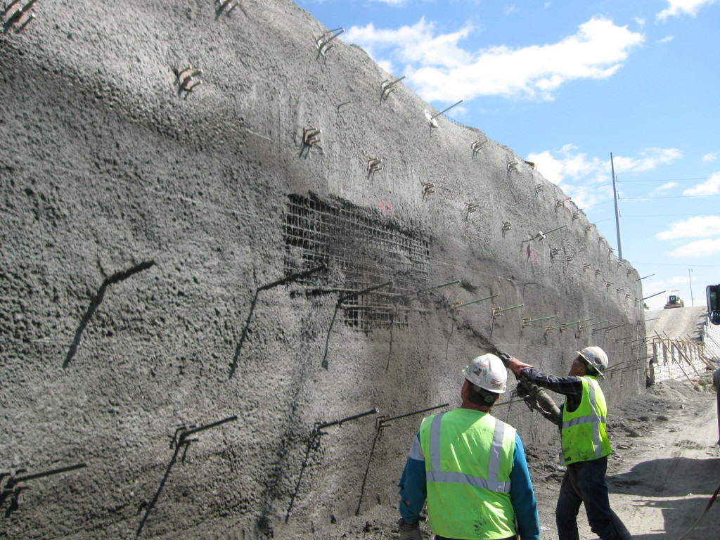 Nail Concrete Wall