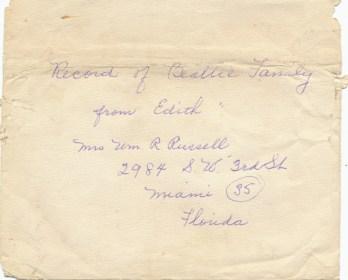 Beattie Letter Envelope